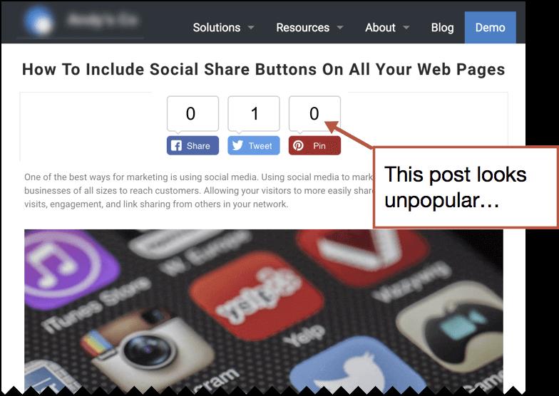 Не показывайте низкие цифры в социальных иконках