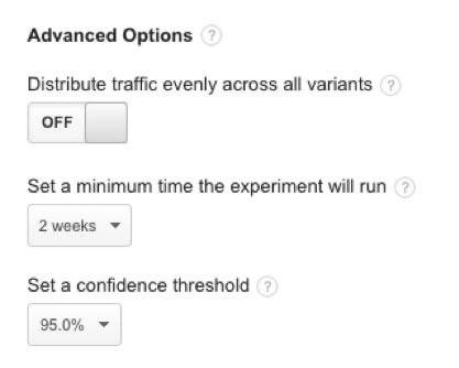 дополнительные параметры аб тест