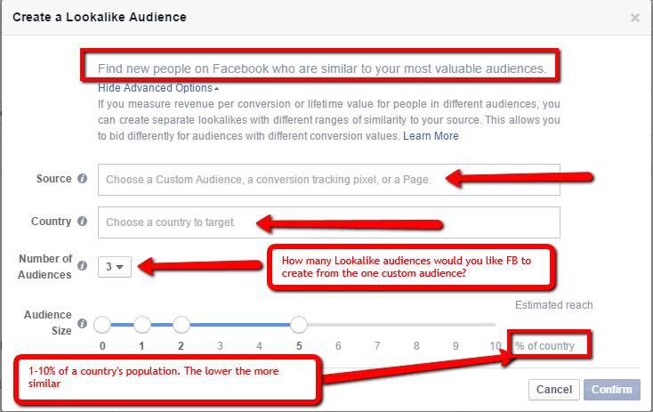 Настройка: Представление аудитории в Facebook