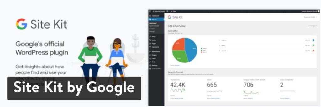 Site Kit с помощью плагина Google WordPress