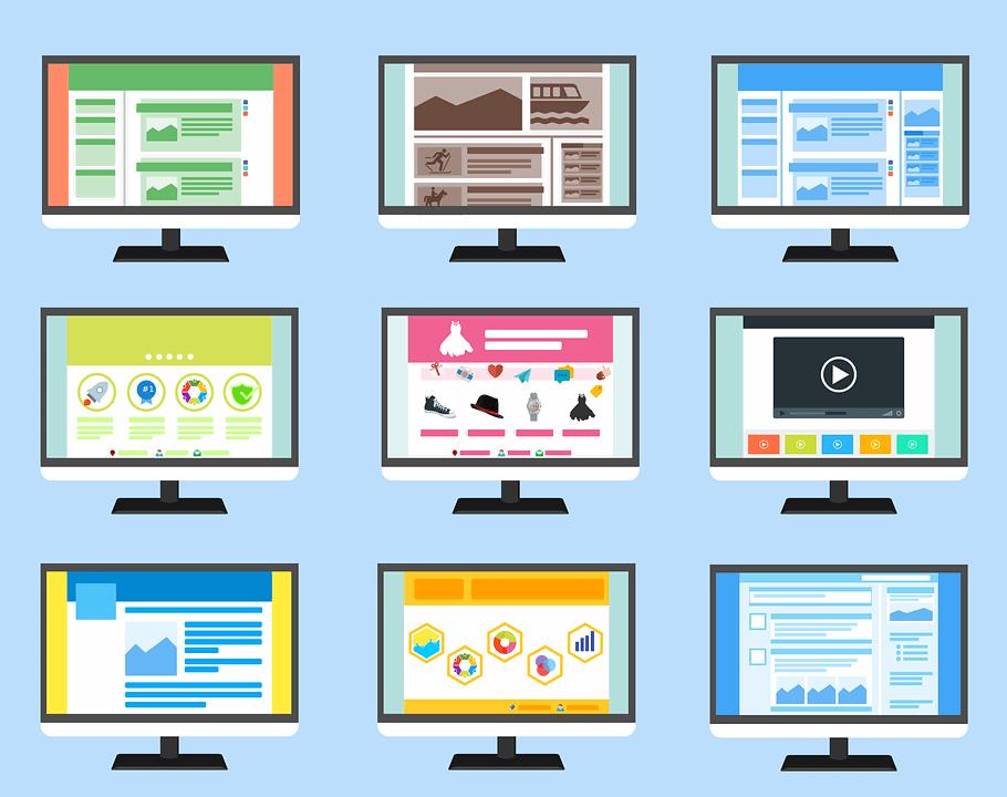 много вариантов дизайна сайтов